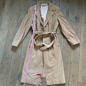 Vintage tan suede trench coat